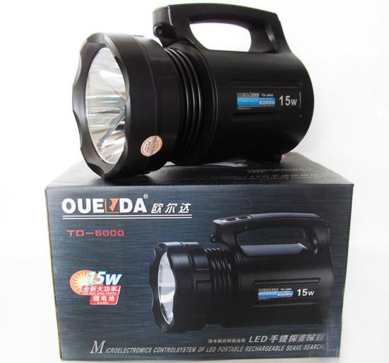Мощный аккумуляторный фонарь TD-6000 15W