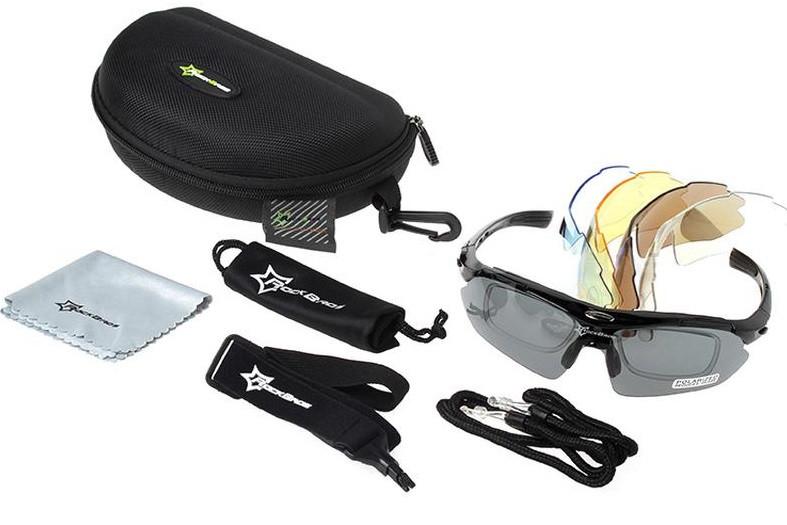 Тактические очки RockBros с 5-ти линзами